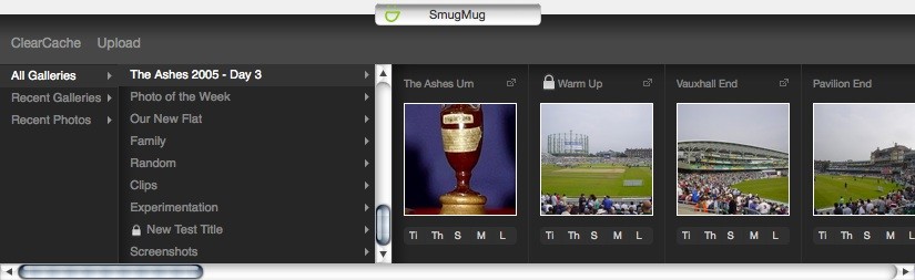 SmugMug Media Silo Screenshot