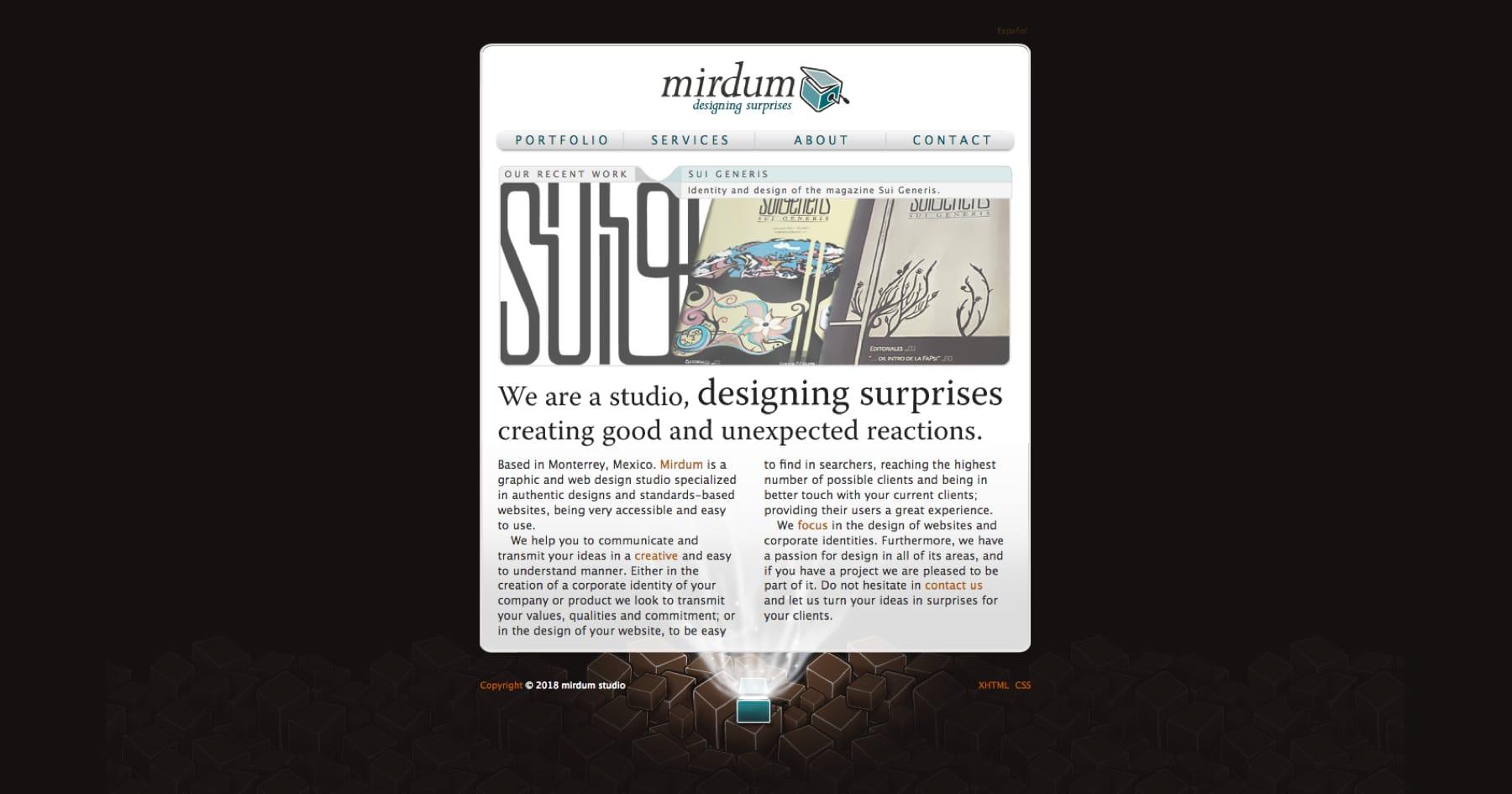 My first portfolio site