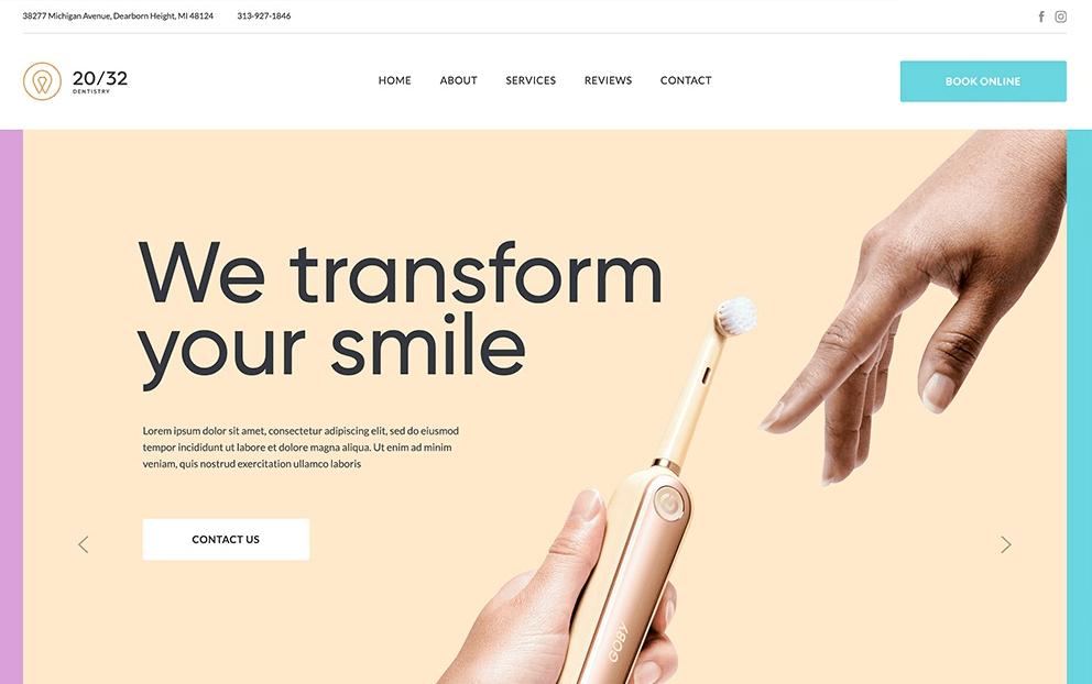 screenshot of 20/32 Dental Studio