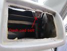 Toyota dash pad bolt behind passenger side vent