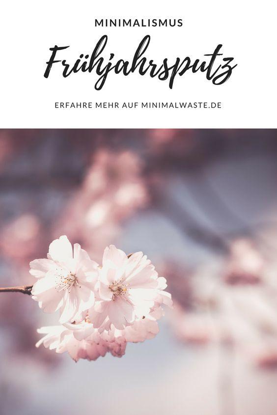 Pinterest Cover zu 'Frühjahrsputz - Ausmisten und Aufräumen für den Frühling'