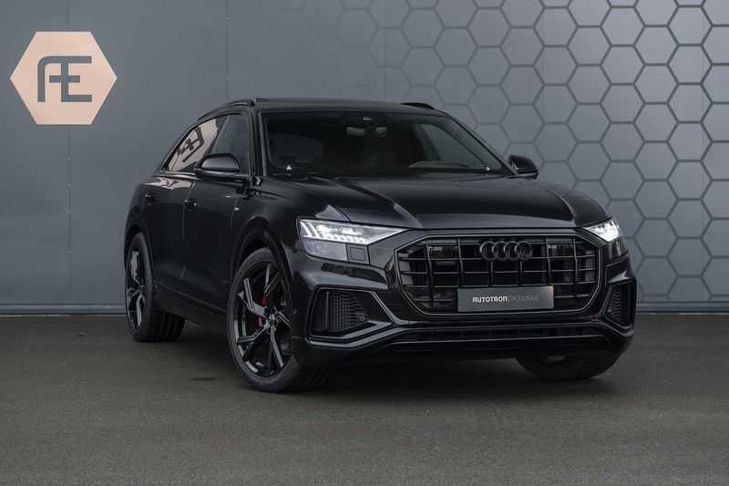 Audi Q8 55 TFSI quattro Pro Line S 3x S-Line! Black pack, 4-wiel-best. / Massage, Verw. & Koelb. stoelen, Bang & Olufsen 3D + Elek.Haak + Ambiente verlichting afbeelding 14