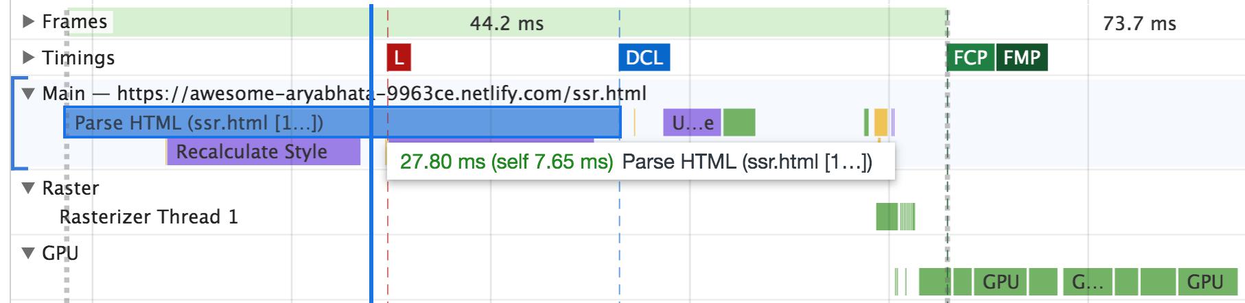 Server side mobile HTML