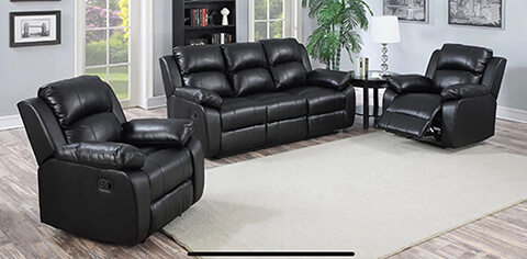 3 x 1 x 1 Lounge Suit with 4 Recliners