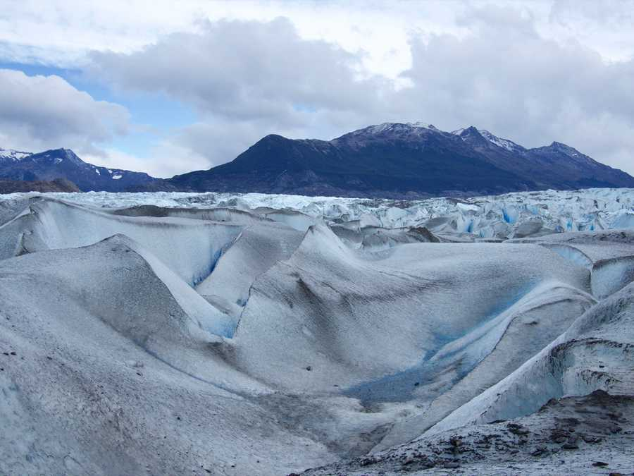 View from a top of the glacier