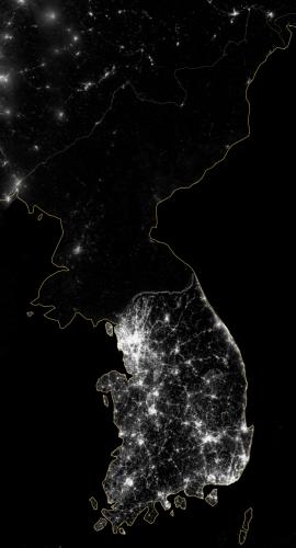 Korea At Night 2012 –NASA
