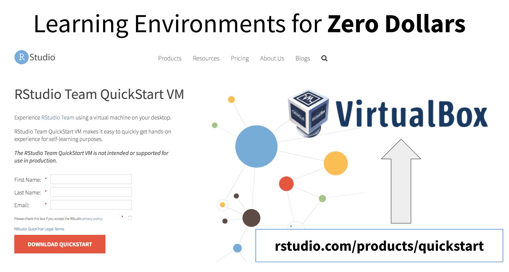 RStudio Team QuickStart VM