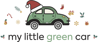 My Little Green Car logo Christmas