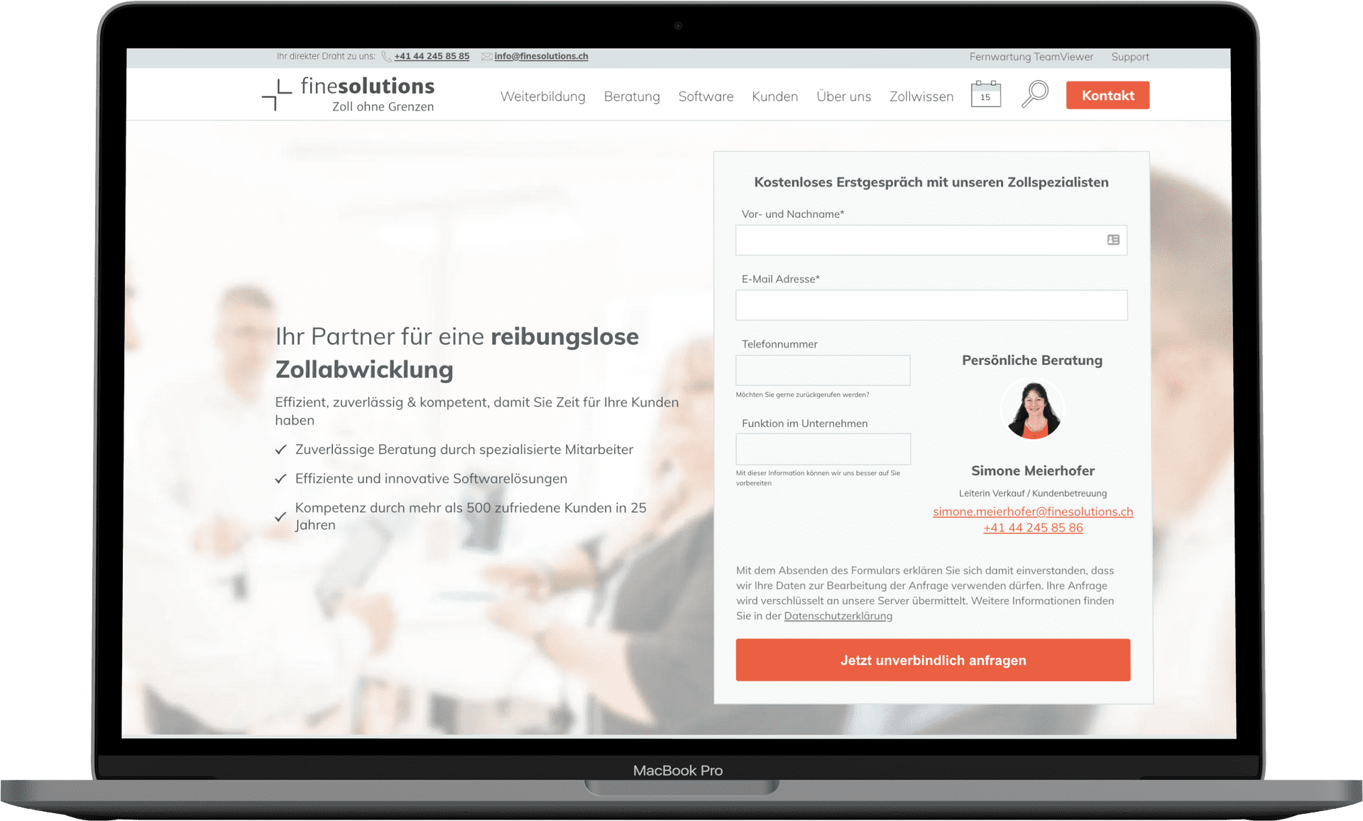 Webseite FineSolutions