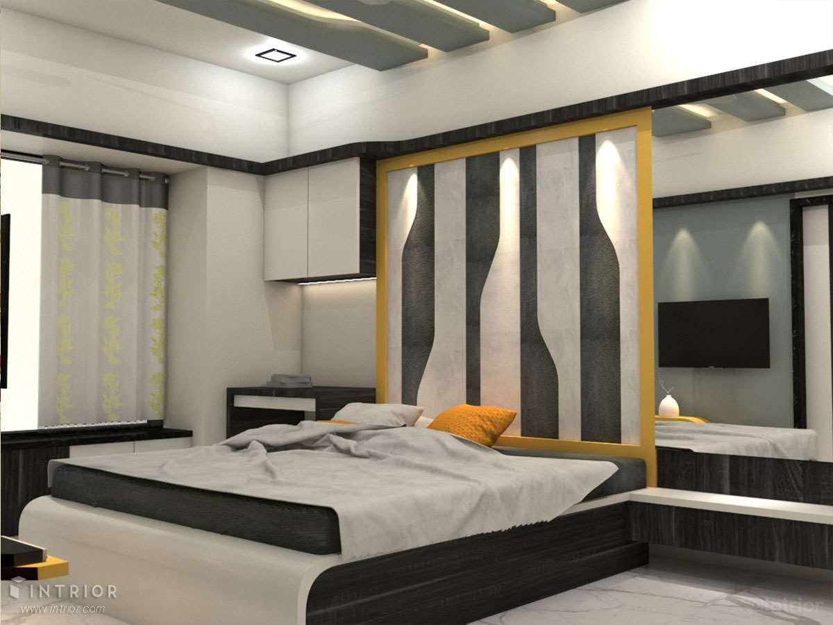 bed with Paneling