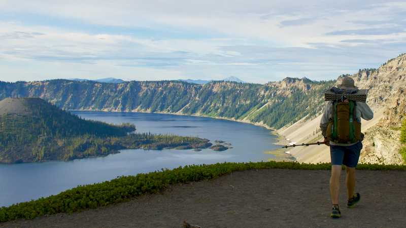 Dave looks at Crater Lake