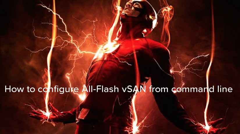 How to configure All-Flash vSAN from command line - logo