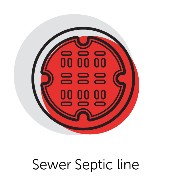 Graphical Icon of a Sewer Septic Line