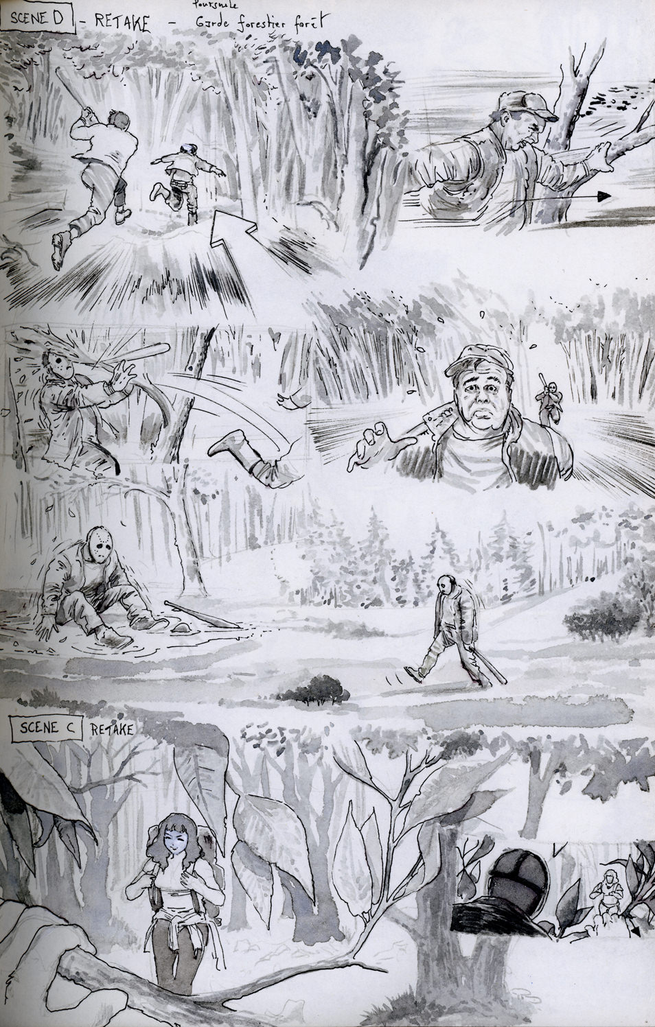 Storyboard page sketches