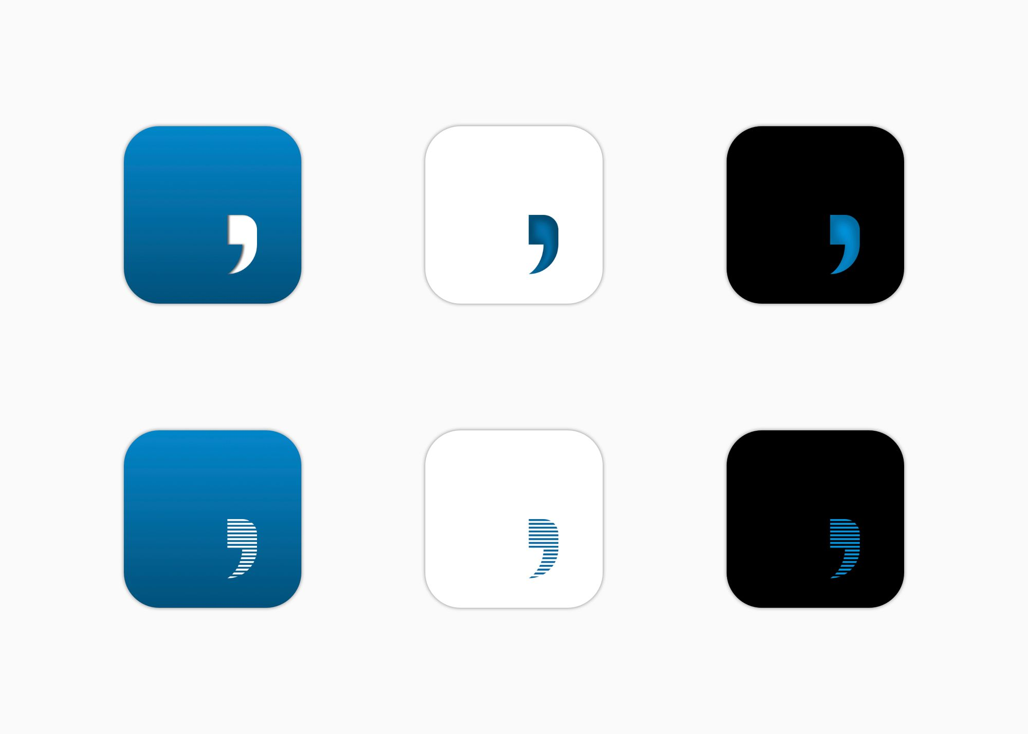 Six new Hibi Journal icons