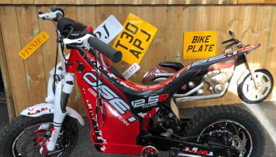 An OSET electric trials bike