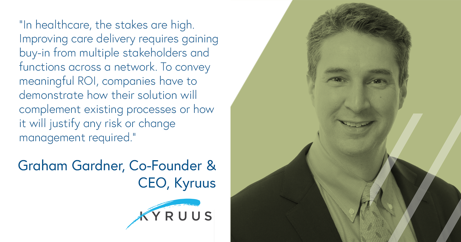 Graham Gardner, CEO and co-founder, Kryuus