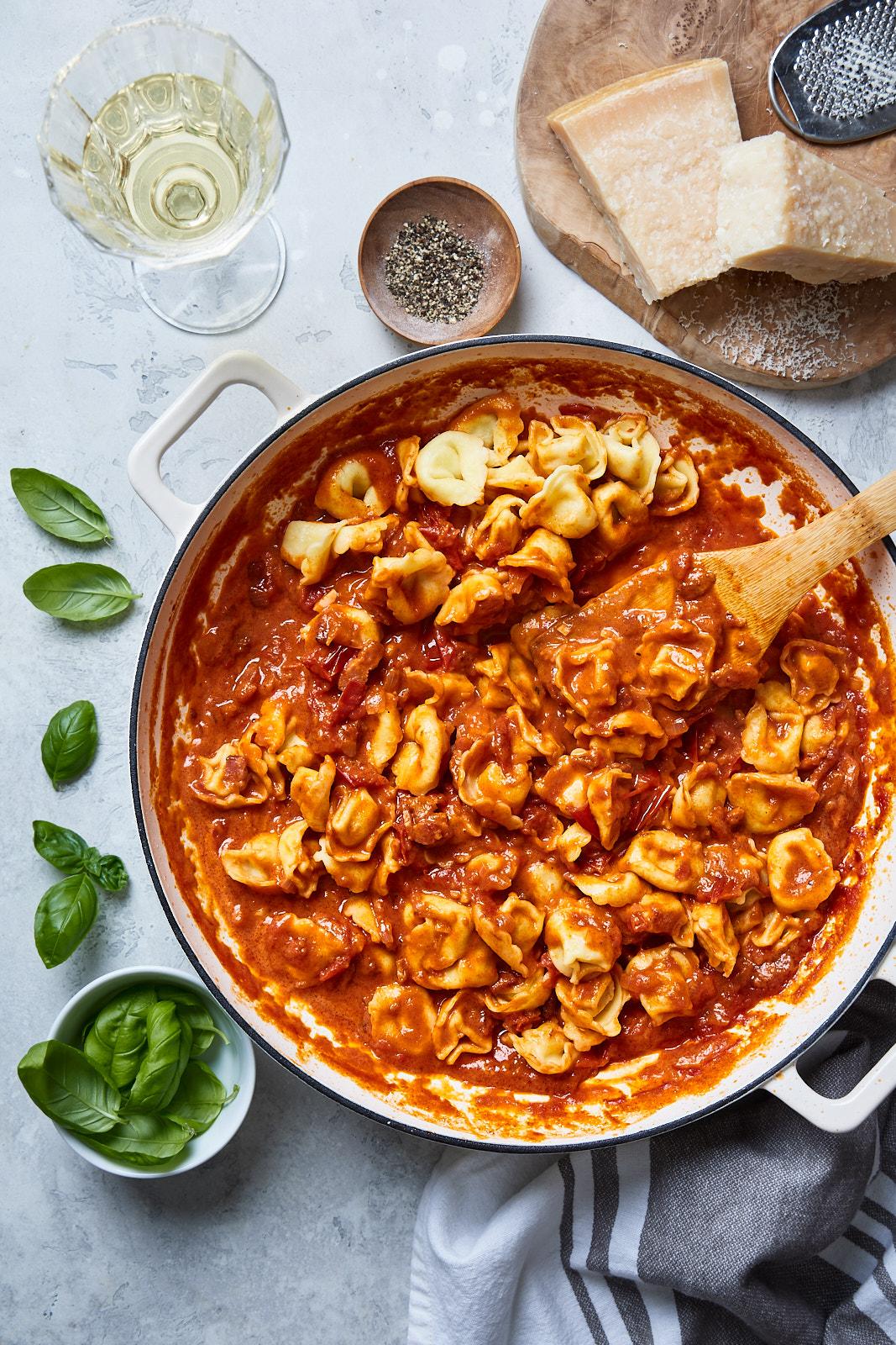 Easy Tortellini Amatriciana