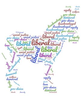 Democrat word cloud