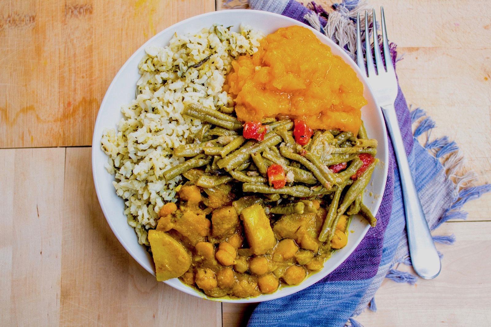 Veggie bowl - Trini style