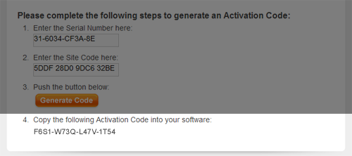 Manual Activation