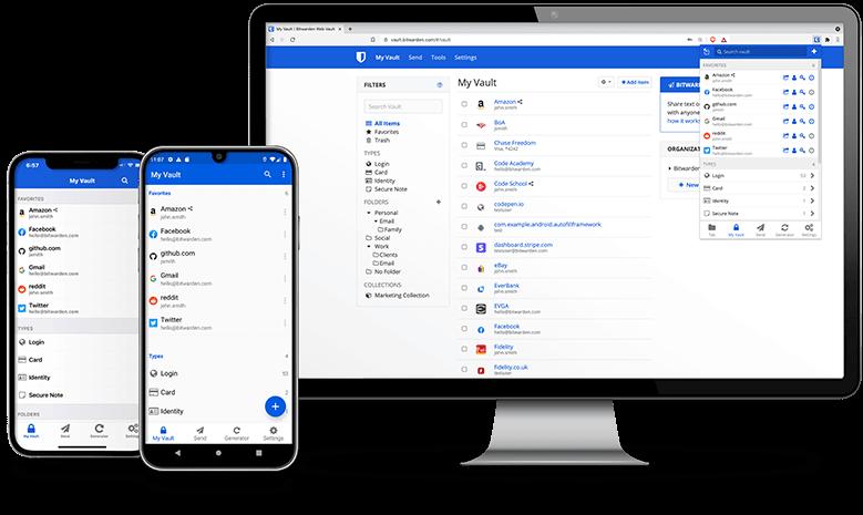 Bitwarden mobile and desktop app