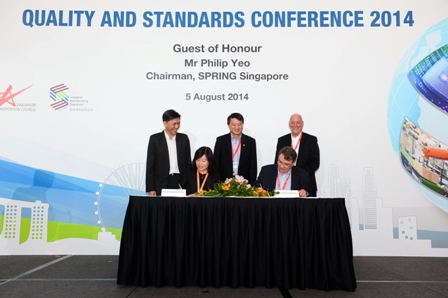 Photo of MoU signing with JAS-ANZ