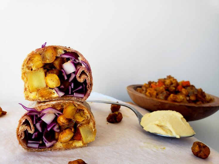 Moroccan chickpeas wraps