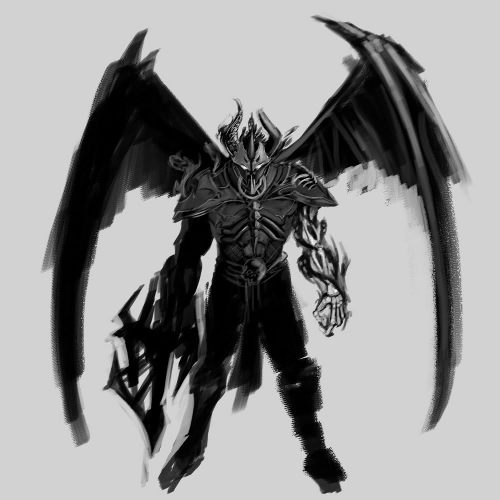 Demon Warrior Sketch