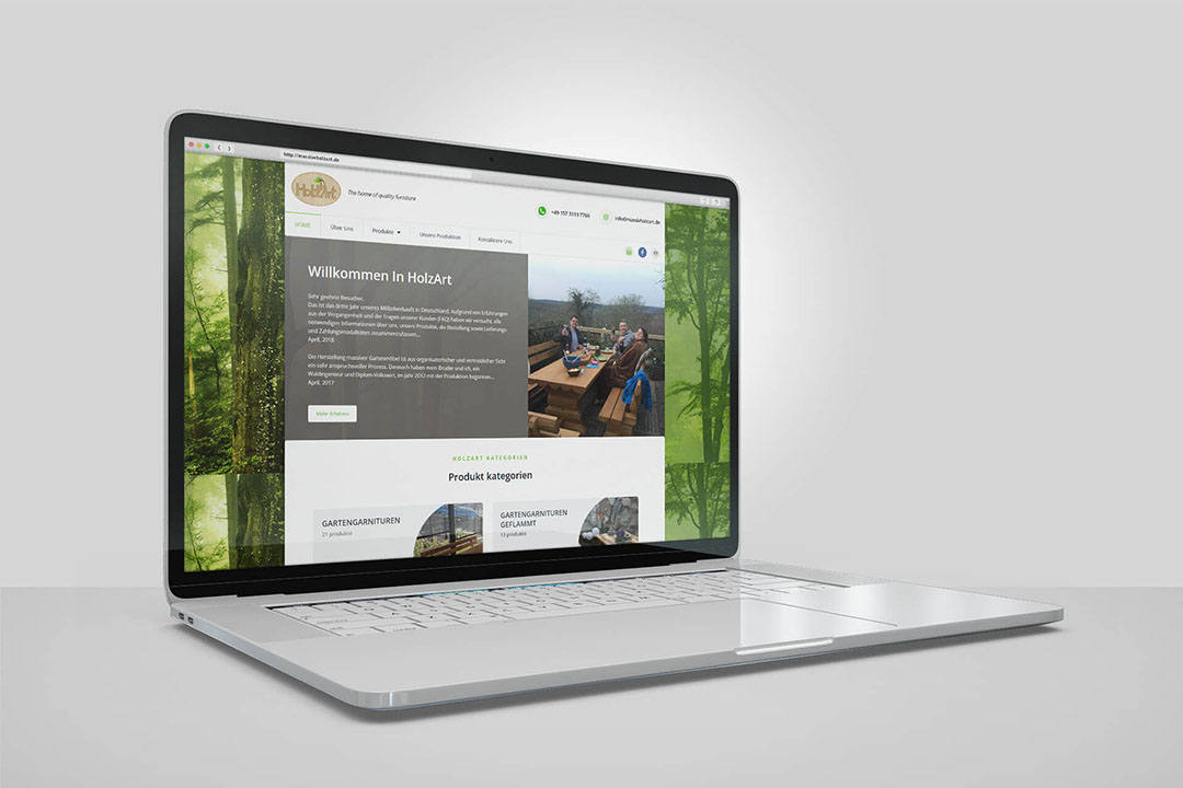 Project Holzart Furniture, Website Design, Programming, Online Shop