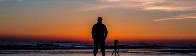 Sunset on Tywyn Beach