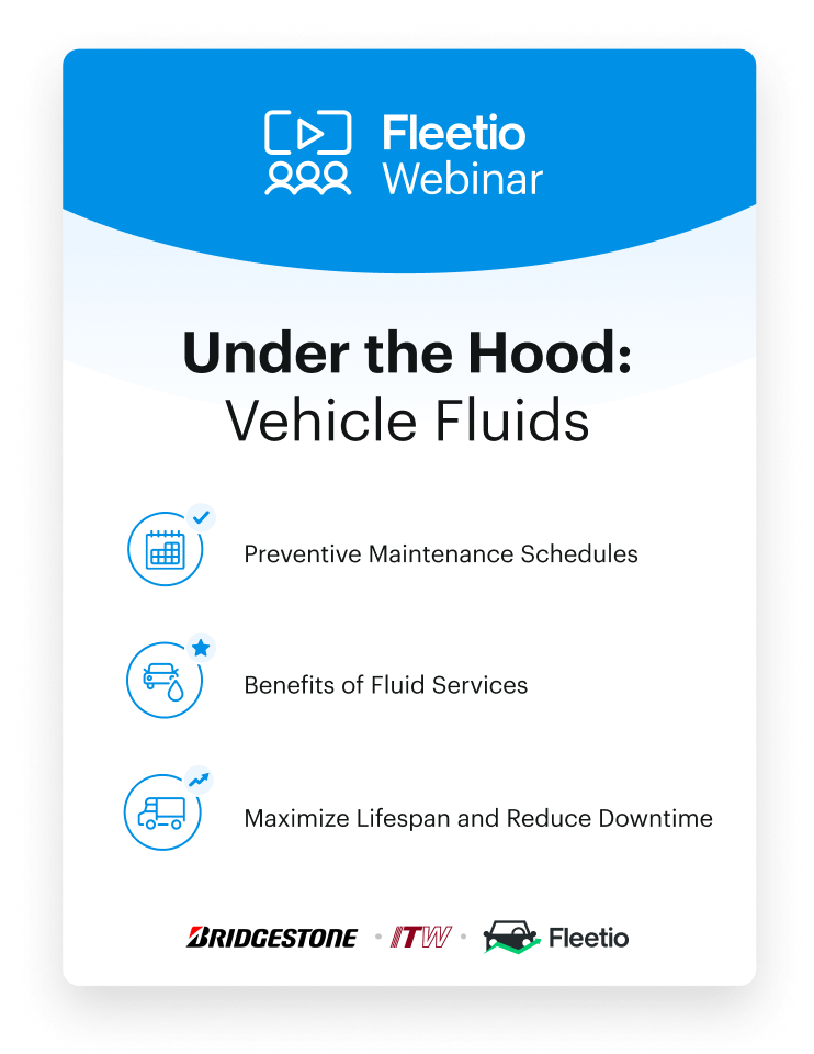 Vehicle fluids webinar visual