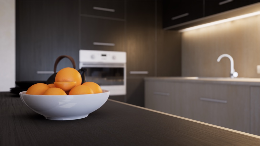 Visualisation of a kitchen in unreal engine 4