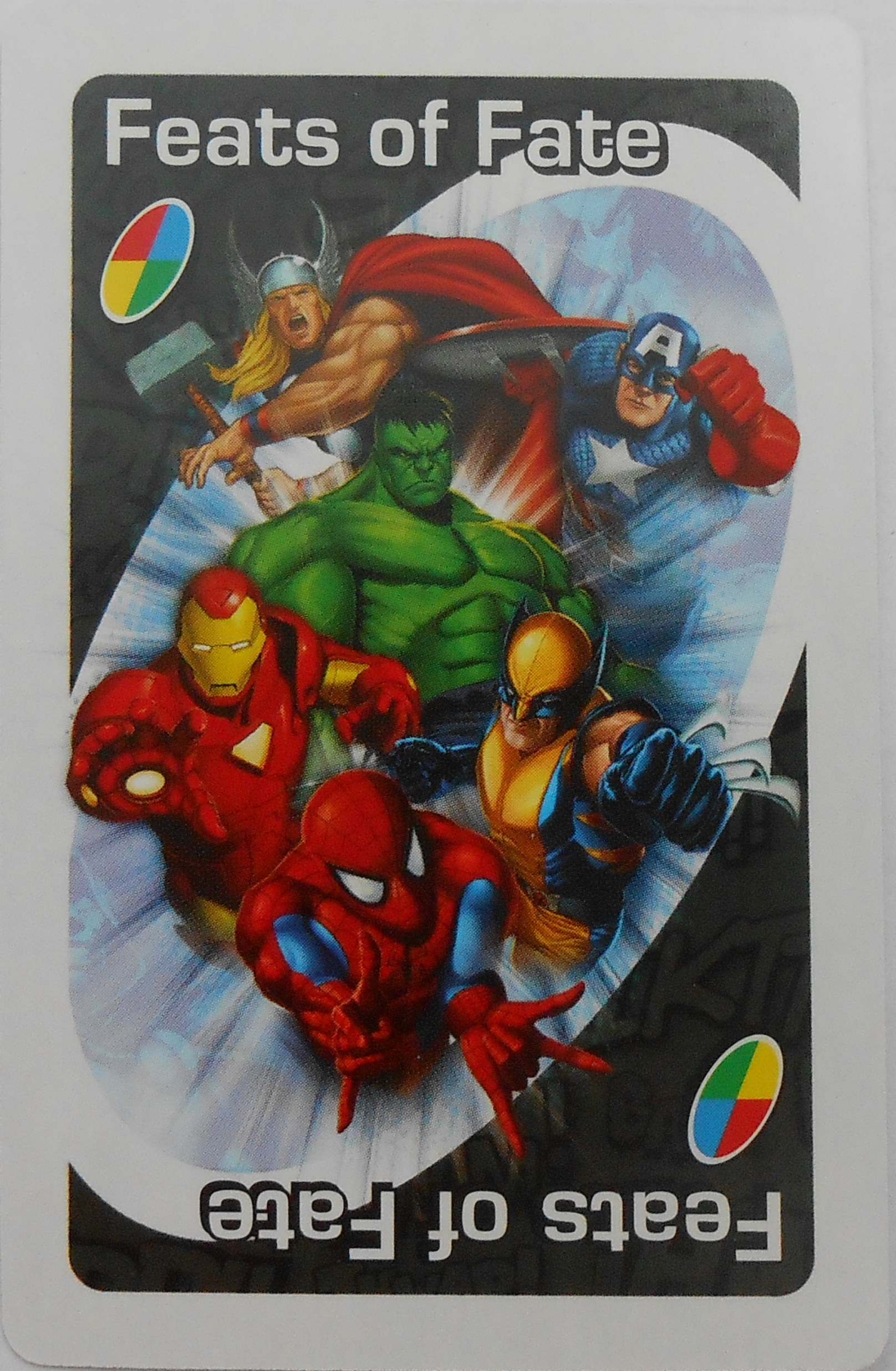 Marvel Heroes Uno (Feats of Fate Card)