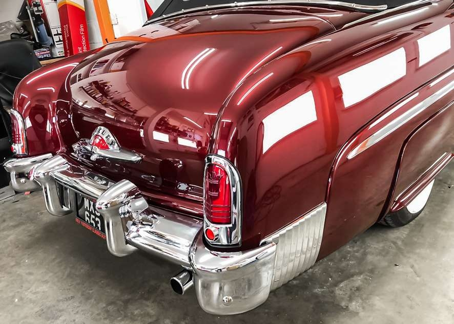 Mercury convertible classic car after polishing and detailing