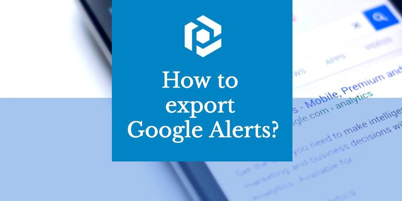 Export Google Alerts to a spreadsheet cover image