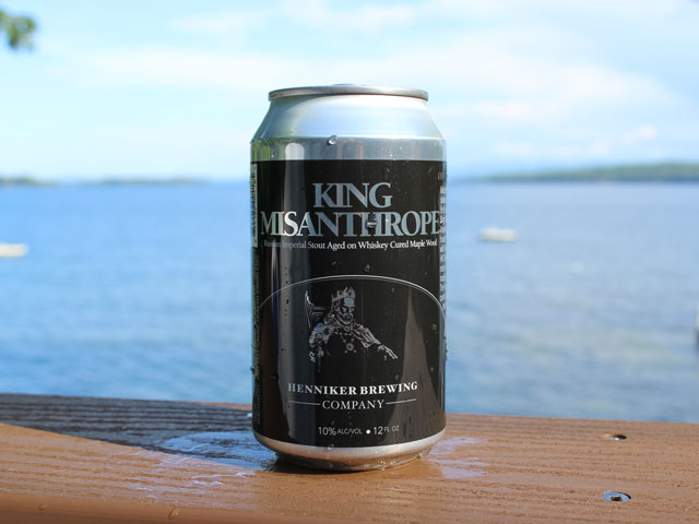King Misanthrope, a Russian Imperial Stout brewed by Henniker Brewing Company