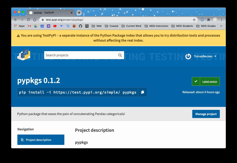 The `pypkgs` Python package updated to version 0.1.2 on [TestPyPI](https://test.pypi.org/).