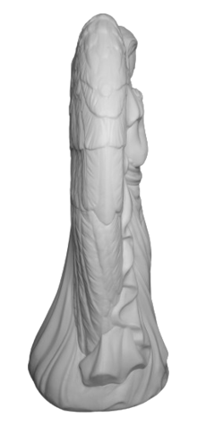 Unpainted Angel with Wings photo