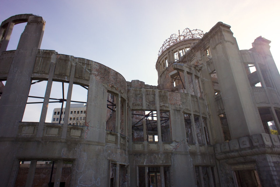 Atomic Bomb Dome, one of the few buildings left standing in August 1945