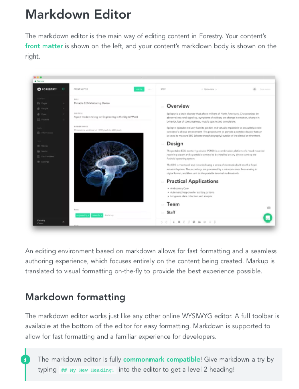Forestry Markdown Editor