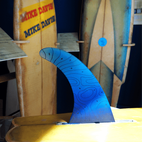 eco surf fin with swell lines