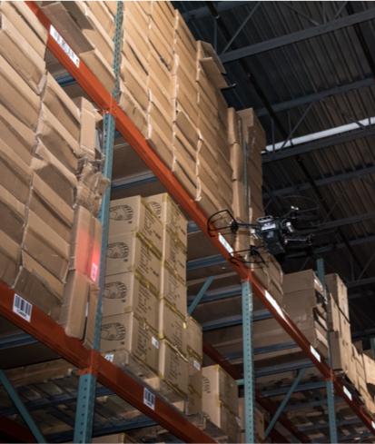 autonomous drone scans inventory
