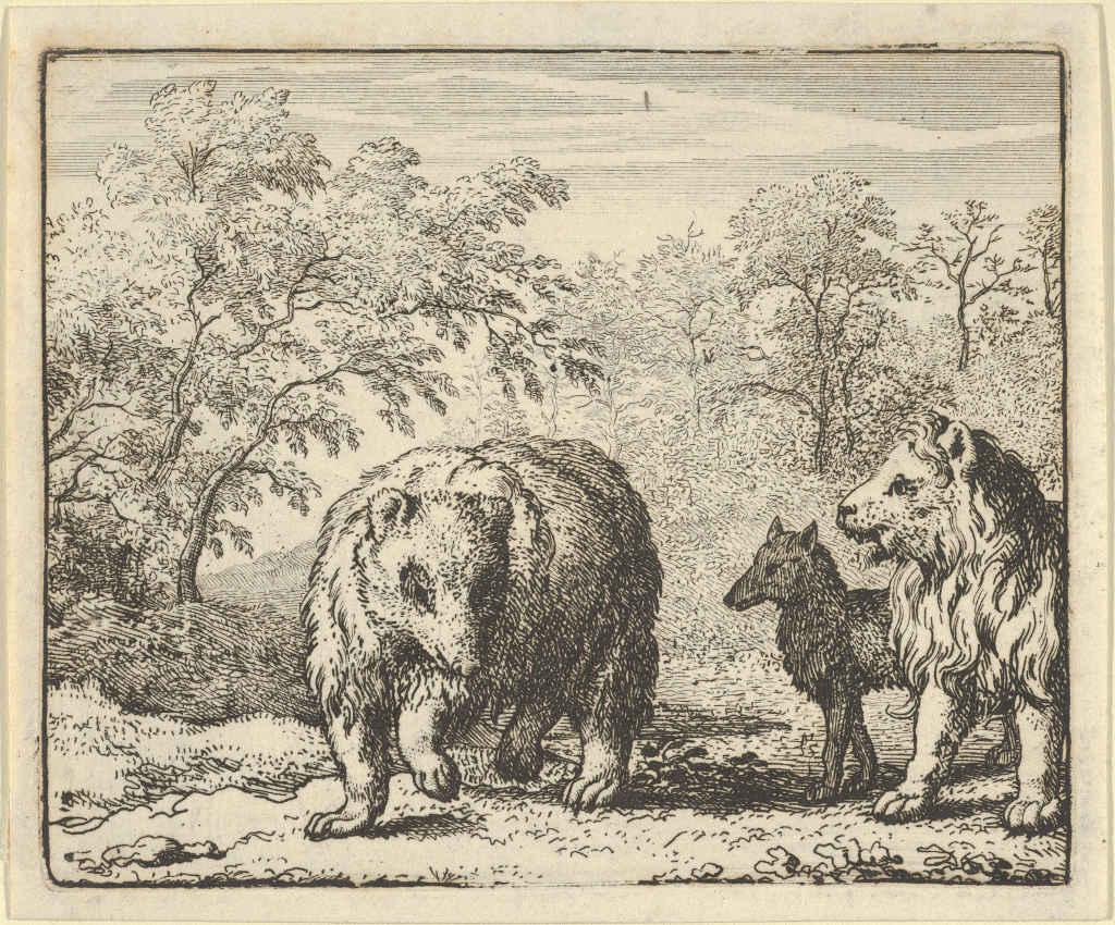 The Three Enemies Lion Wolf Bear)