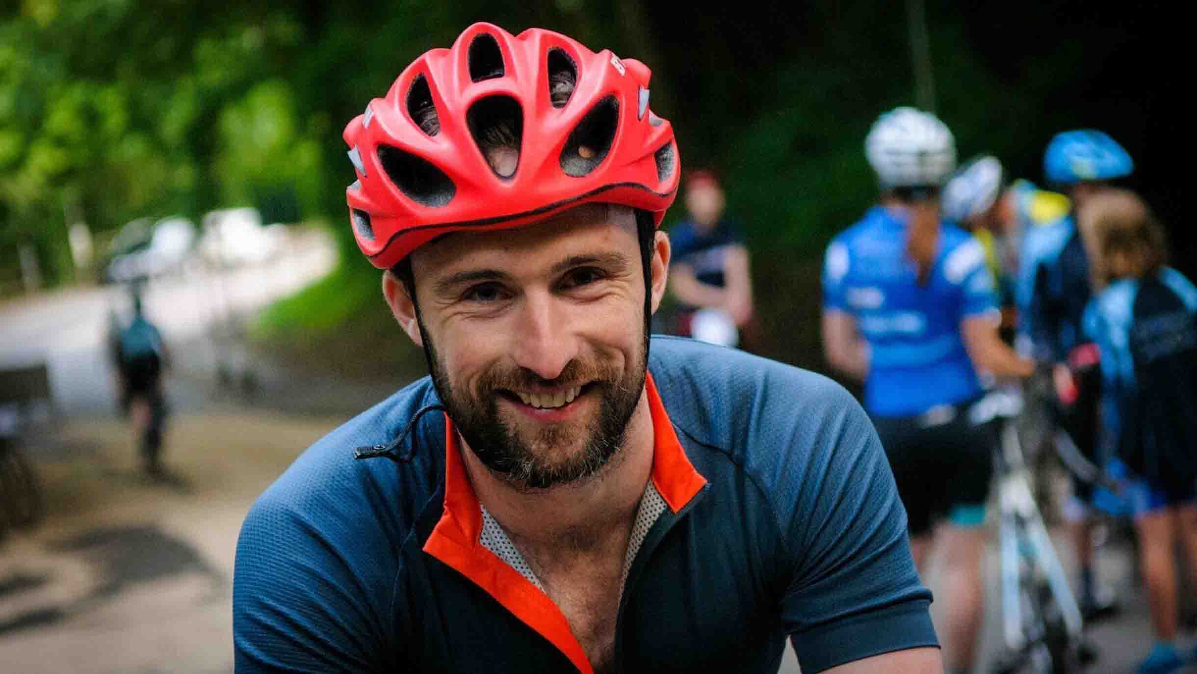 In his downtime, Paul's an avid cyclist…