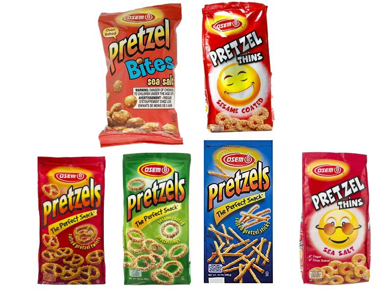 Osem (Pretzel Bites/Pretzel Twists/Sesame Rings/Sticks/Thins/Flat Pretzels)