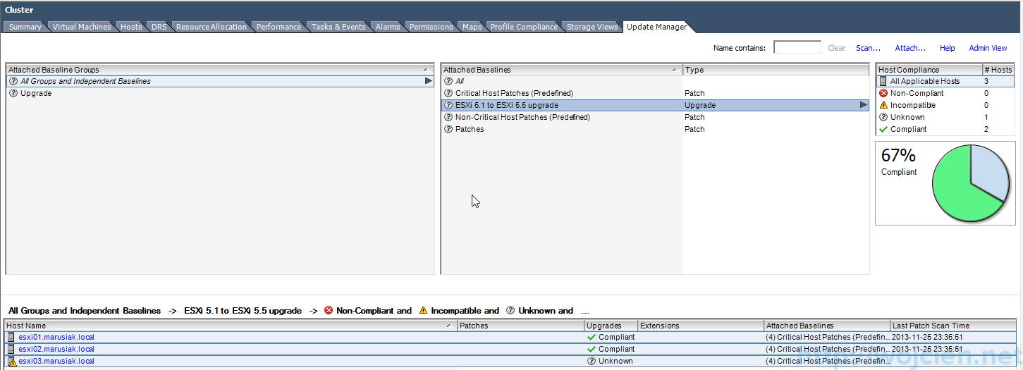 ESXi update - vSphere Update Manager 8