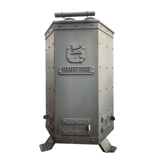 BBQ Hamrforge Double Barrel Smoker
