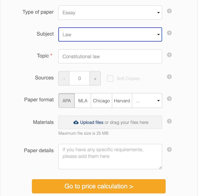 sample order on eduvinci.com