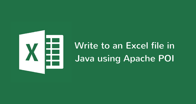 How to Write to an Excel file in Java using Apache POI